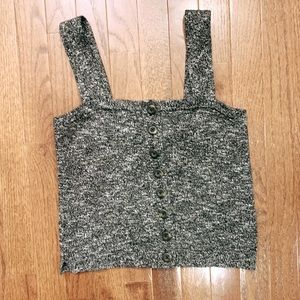NWT Madewell Button Front Sweater Tank Top